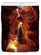 Antelope Canyon Ray Of Hope Duvet Cover