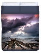 Around The World On A Boat Rock Duvet Cover