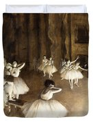 Ballet Rehearsal On Stage Duvet Cover