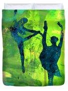 Ballet Watercolor 1 Duvet Cover
