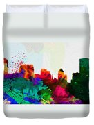 Baltimore City Skyline Duvet Cover