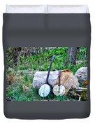 Banjos At The Woodpile Duvet Cover