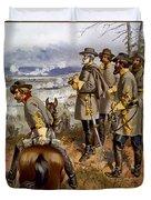 Battle Of Fredericksburg Duvet Cover by American School