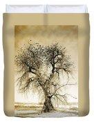 Bird Tree Fine Art  Mono Tone And Textured Duvet Cover