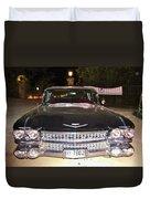 Black And Chrome Beauty Duvet Cover