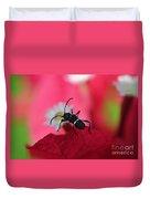 Black Bug Duvet Cover