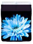 Blue Chrysanthemum Duvet Cover