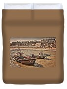 Boats At Broadstairs Duvet Cover