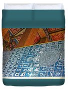 Bottom Of A Foot Of Reclining Buddha In Wat Po In Bangkok-thail Duvet Cover