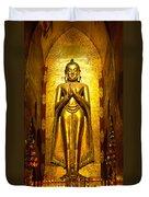 Buddha Inside Ananda Temple - Bagan - Myanmar Duvet Cover
