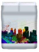 Buffalo City Skyline Duvet Cover