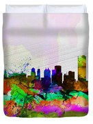 Buffalo Watercolor Skyline Duvet Cover