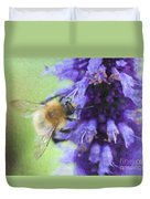Bumblebee On Buddleja Duvet Cover