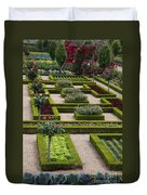 Cabbage Garden Chateau Villandry  Duvet Cover