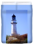 Cape Elizabeth Lighthouse Duvet Cover