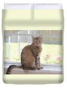 Cat In The Window Duvet Cover