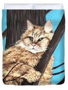 Cat On A Tree Duvet Cover