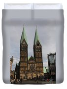 Cathedral Bremen - Germany Duvet Cover