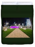 Charlotte Nc Usa - Charlotte Skyline Duvet Cover