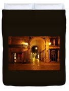 Clock Tower Venice Italy And The Path To Merceria Duvet Cover