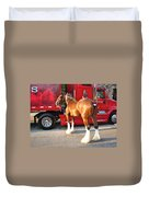 Clydesdale At Esp Duvet Cover