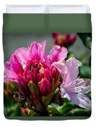 Coast Rhododendron Duvet Cover