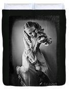 Creepy Young Girl Duvet Cover