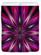 Dark Purple Abstract Star Duvet Cover  Duvet Cover