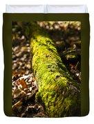 Dead Log With Moss Duvet Cover
