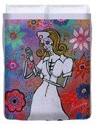 Dia De Los Muertos Nurse Duvet Cover