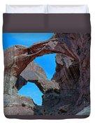 Double Arch - Arches National Park Duvet Cover