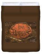 Dr Pepper Vintage Sign Duvet Cover by Bob Christopher