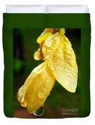 Drop On Yellow Flower Duvet Cover