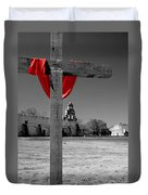 Mission San Juan Easter Cross Duvet Cover