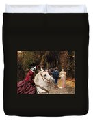 English Bulldog Art Canvas Print - Les Fiances Duvet Cover