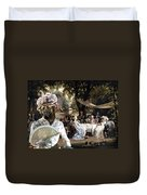 English Mastiff  - Mastiff Art Canvas Print - The Garden Party Duvet Cover