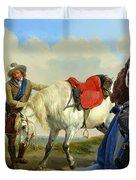 English Springer Spaniel Art Canvas Print Duvet Cover