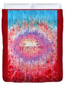 Rich Texture Abstract Painting Duvet Cover