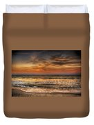 Evening At The Beach Duvet Cover