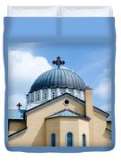Exterior Of  Holy Trinity Gree Duvet Cover