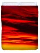 Fiery Furnace Sunset Duvet Cover