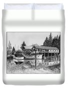 Net Shed Gig Harbor Duvet Cover