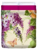 Flowering Butterfly Bush Duvet Cover