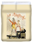 France Paris Poster Of Stage Performance At Cafe Chantant Duvet Cover