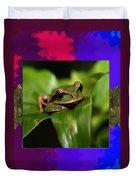 Frog Hideous Green Amphibian Duvet Cover