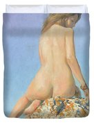 Girl And Sky 2012 Duvet Cover