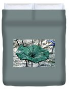 Glass Lily Pad  Duvet Cover