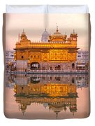 Golden Temple - Amritsar Duvet Cover