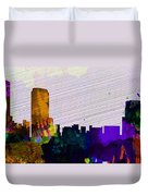 Grand Rapids City Skyline Duvet Cover
