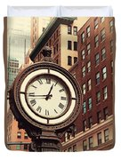 Historic Clock Of The Fifth Avenue Duvet Cover